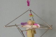 Grote kids-connector met vlinderpopje.